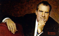 Richard M. Nixon by Norman Rockwell, 1968, oil on canvas, National Portrait Gallery, Smithsonian Institution